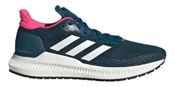 Zapatillas adidas Solar Blaze Ver/blan/fucs De Mujer