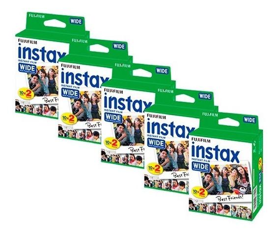 Película Fujifilm Instax Wide, 5x20 Fotos (13159)