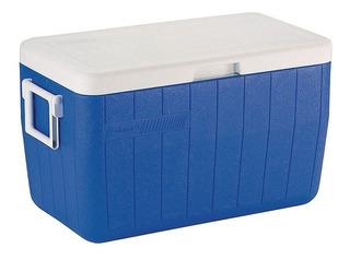 Caixa Térmica Coleman Azul 48qt 45,4 L Com Alça