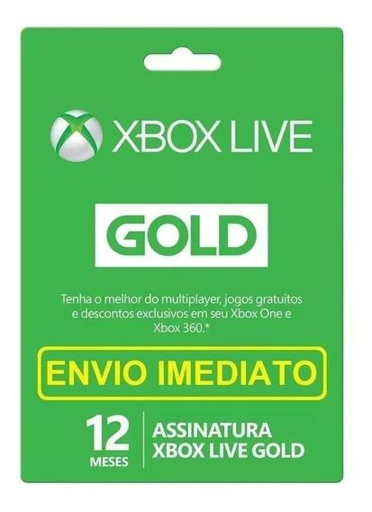 Xbox Live Gold 12 Meses Código 25 Dígitos Xbox 360 - One