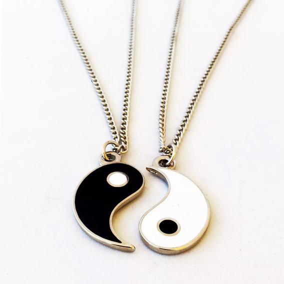 Colar Da Amizade Yin Yang - Colar Duplo Para Casal / Amizade
