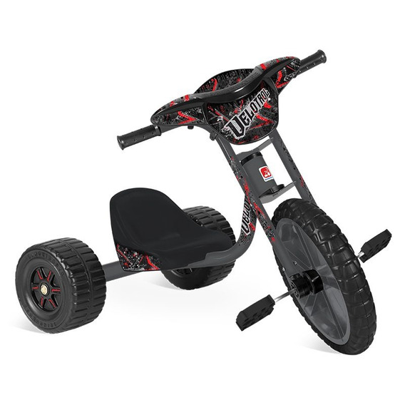 Triciclo Velotrol - Preto - Bandeirante
