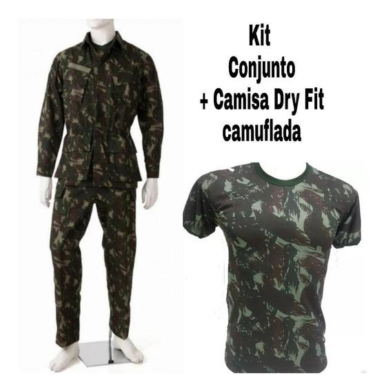 Farda Alta Solidez (rip Stop) +camisa Dry Fit Eb