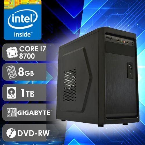 Computador Cpu I7 8700/hd 1tb /16gb / Dvd-rw /mb Gigabytes