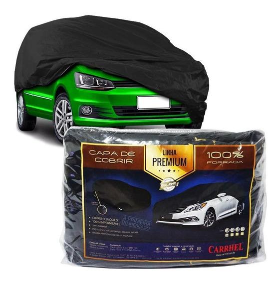 Capa De Couro Forrada Cobrir Carro Automotiva Protetora M