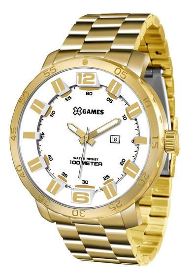 Relógio Xgames Xmgs1022 B2kx Masc Branco Dourado - Refinado