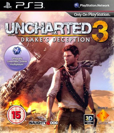 Uncharted 3 Dublado + Dlcs - Ps3 Psn Mídia Digital