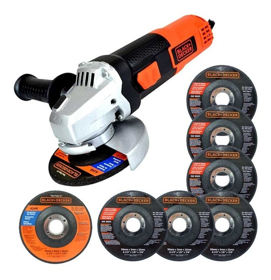 Esmeril Angular 4 1/2 820w Con 7 Discos G720p Black & Decker