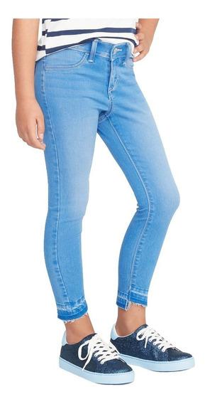 Jeans Niña Pantalón Mezclilla Jeggings Skinny Azul Old Navy