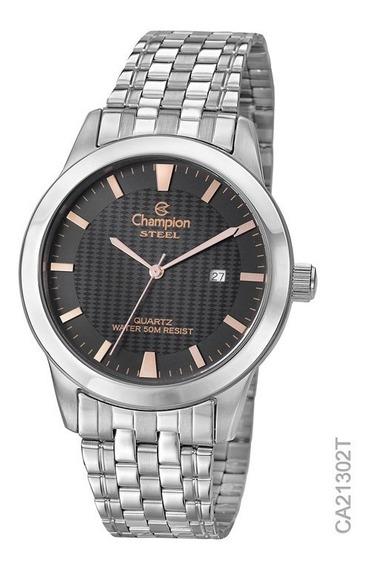 Relógio Champion Prata Original Ca21302t Masculino