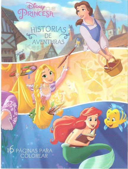 Princesas Disney Paquete 10 Libros Para Iluminar Colorear
