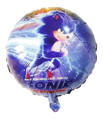 5 Globos Sonic Redondos