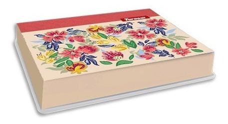 Cofre De Cartón Flores Chico 6 Div