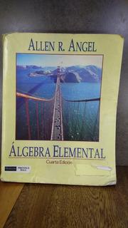 L933 Algebra Elemental Cuarta Edicion Allen R Angel