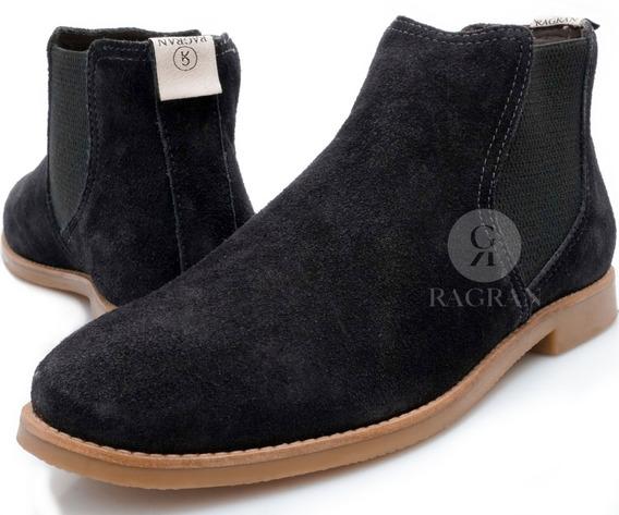 Bota Masculina Urbana Chelsea Boots Botina Country Couro