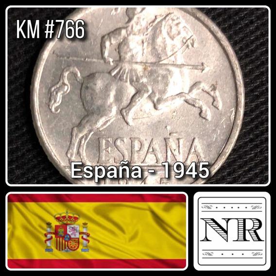 España - 10 Centimos - Año 1945 - Km #766 - Jinete Iberico