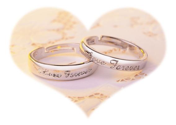2 Anillos Plata 925 Promesa Amor Amistad Forever Love Novios
