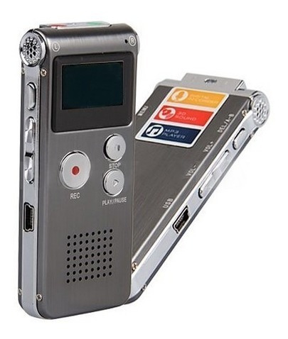 Gravador Digital Mp3 Player Stereo Digital 8 Gb Importado