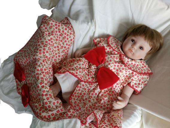 Promoção! Kit Saída Da Maternidade Florido 4 Peças