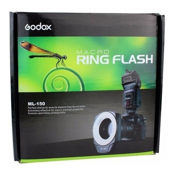 Flash Macro Ring Godox Ml 150 P/ Dentista E Macro Canon Yn14
