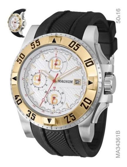 Relógio Magnum Ma34361b Calendario Cronografo