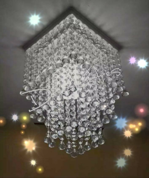 Lustre De Cristal Acrílico Pendente Para Salas E Quartos D08