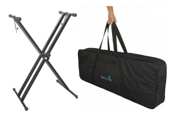Estante P/ Piano Digital C/ Cinta + Capa Bag Reforçada 7/8
