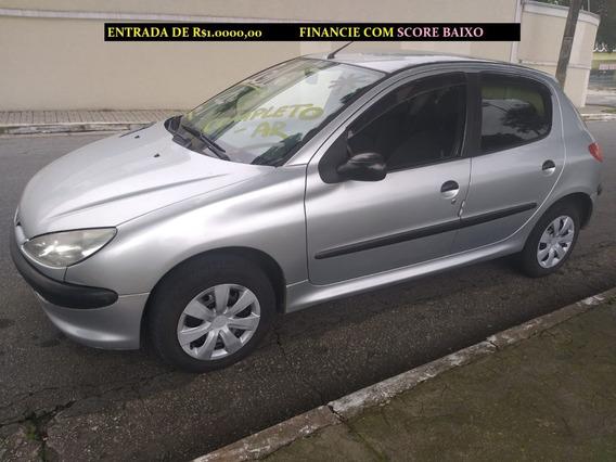Peugeot 206 Compelto-ar Financiamento Com Score Baixo C3