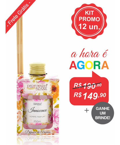 Difusor De Aromas 250 Ml Allegra - Kit 12 Unid.