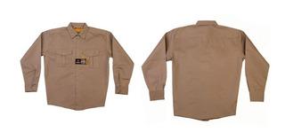Camisa De Trabajo Pampero Clasica Beige 38 Al 58 Cuotas