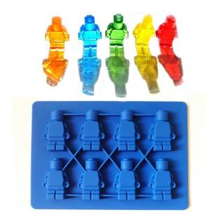 Molde Lego Silicon 8 Muñecos Figura Chocolate Jabón Fondant