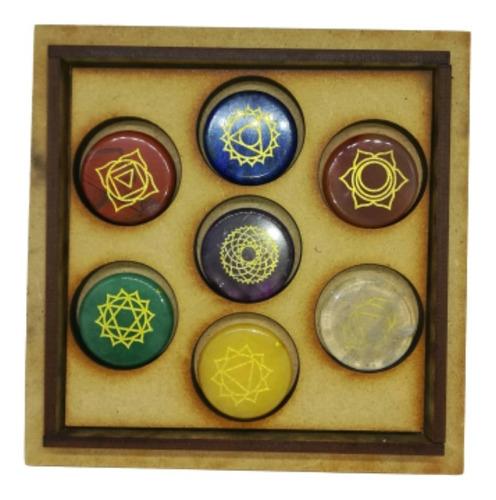 Kit 7 Chakras Cuarzo Cristales Energía Reiki Meditación Pied