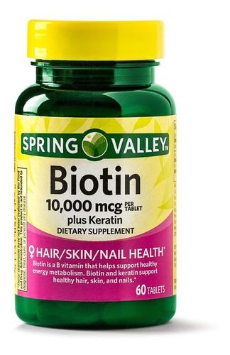 Biotina 10000 Mcg Con Keratina Biot - Unidad a $125
