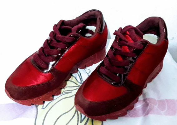 Zapatos Con Plataforma Vinotinto