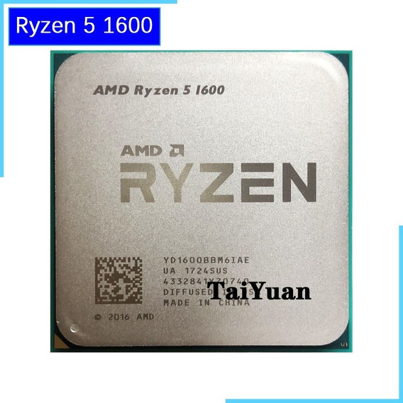 Amd Ryzen 5 1600 R5 3.2 Ghz Six-core Cpu Soquete Am4
