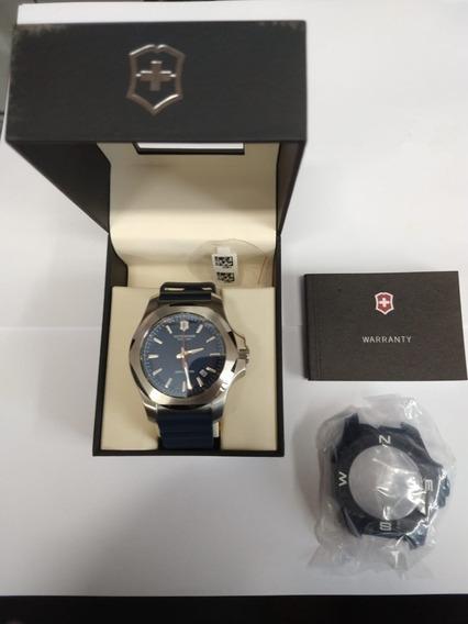 Relógio Masculino Victorinox Pulseira Silicone Azul Original