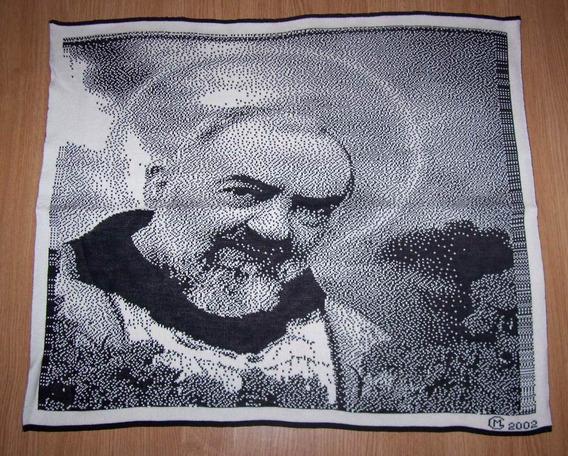 Quadro Padre Italiano São Pio De Pietrelcina - Lã Anti Traça