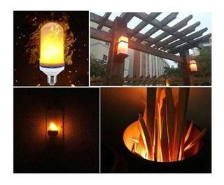 Lampara Led Efecto Fuego 9w Bajo Consumo Decoracion Luz