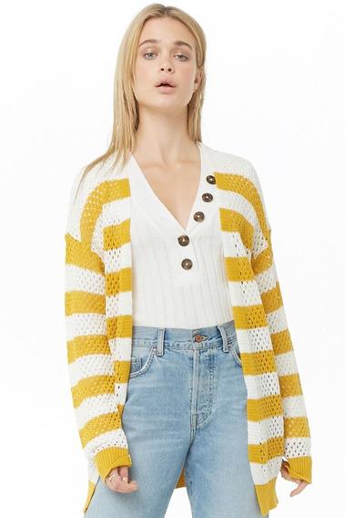 Cardigan Saco Forever 21 Mujer Sweater Mercado Importado