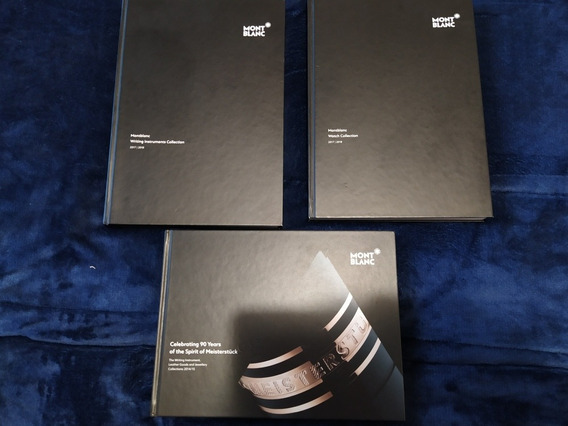Tres Libros De Colección Monblac 2 De Bolígrafos Y Reloj