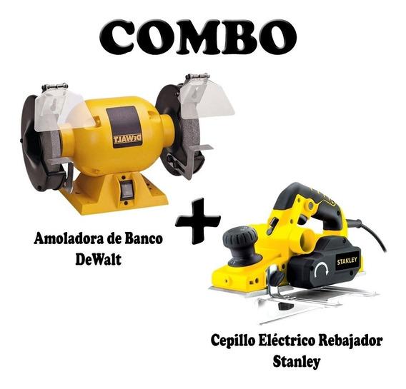 Combo Cepillo Electrico Stanley+amoladora Dewalt Comboh1 Mm
