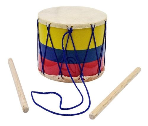 Tambor Cuero # 1 Infantil Colombia Juguete Musical Niño Niña