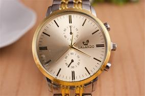 Relógio Masculino Luxo - Dourado - Orlando