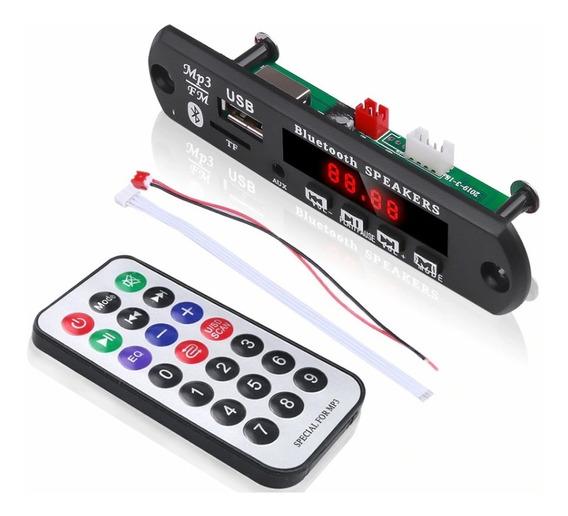 Placa Decodificador Bluetooth Mp3 Usb Para Som Antigo 10 Uni