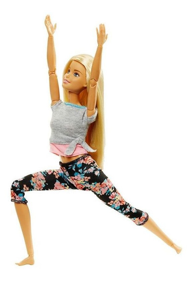 Barbie Feita Para Mexer Loira Articulada Yoga Ftg81 Mattel