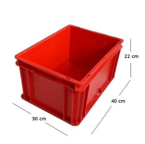 Caj/ón contenedor apilable pl/ástico, 64 l, 3 unidades color gris OKT
