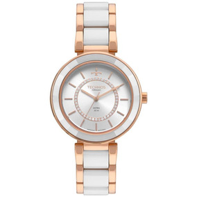 Relógio Technos Feminino Elegance Rosê Ceramic 2036mkp/4b