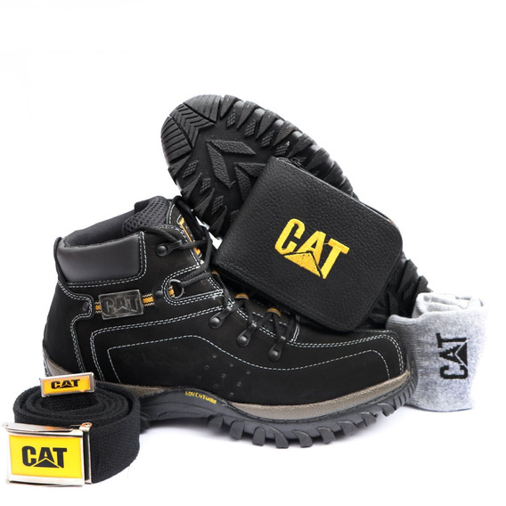 Kit Bota Adventure Caterpillar + Palmilha Gel Carteira Cint