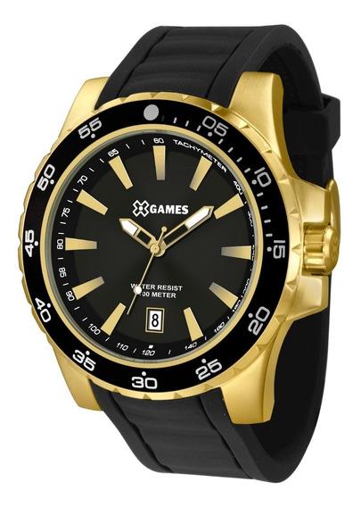 Relógio X-games Masculino Xmgp1001 P1px Dourado Preto