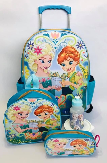 Mochila De Rodinha Frozen Infantil Escolar Costa Anna Elsa G